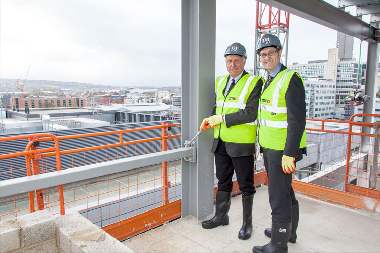 Topping Out at Acero