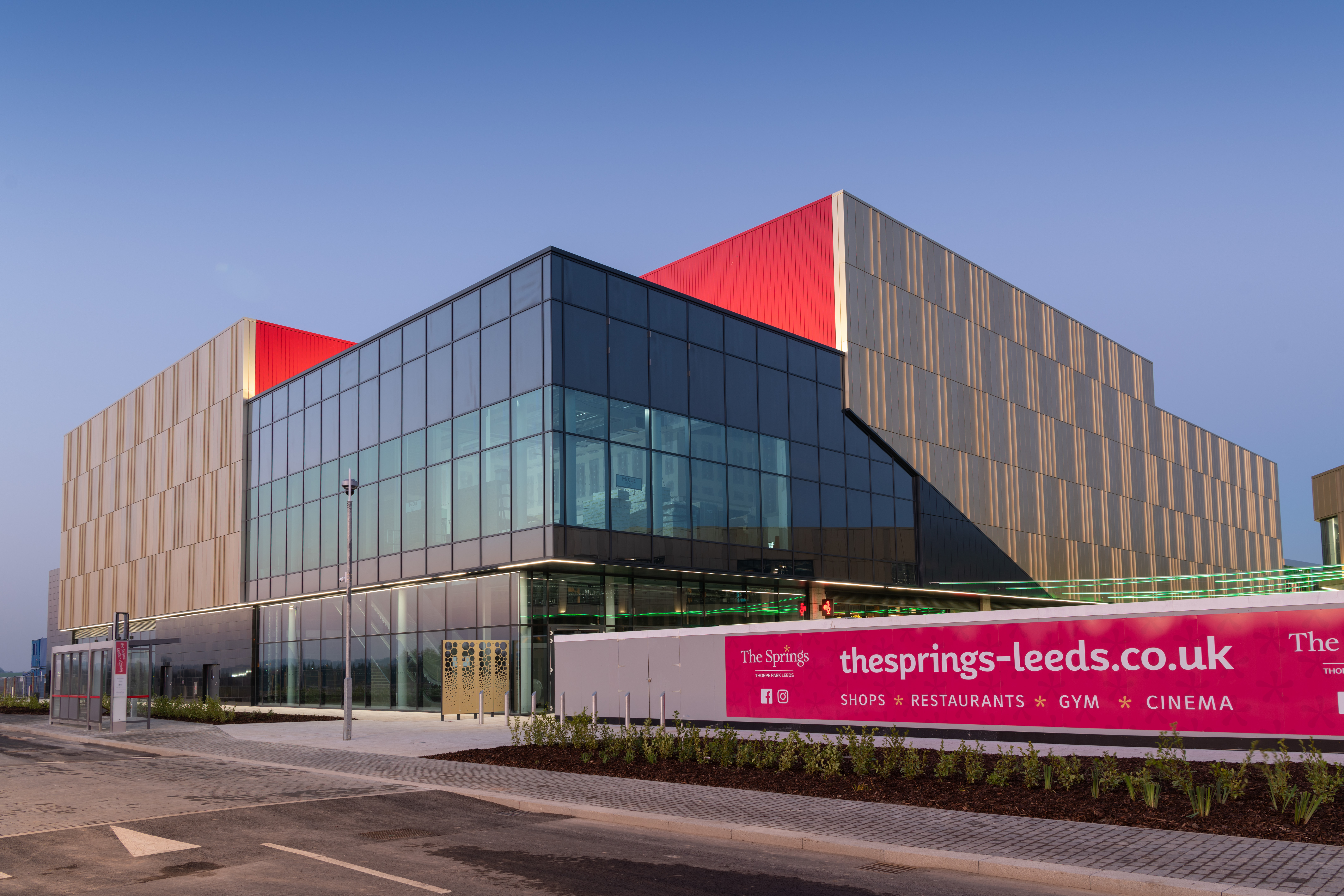 The Springs Shopping and Leisure Centre, Thorpe Park, Leeds, West Yorkshire, United Kingdom. Copy right © Giles Rocholl Photography Ltd