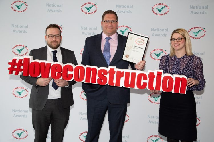 33 Wellington Street awarded Considerate Constructors Bronze Award