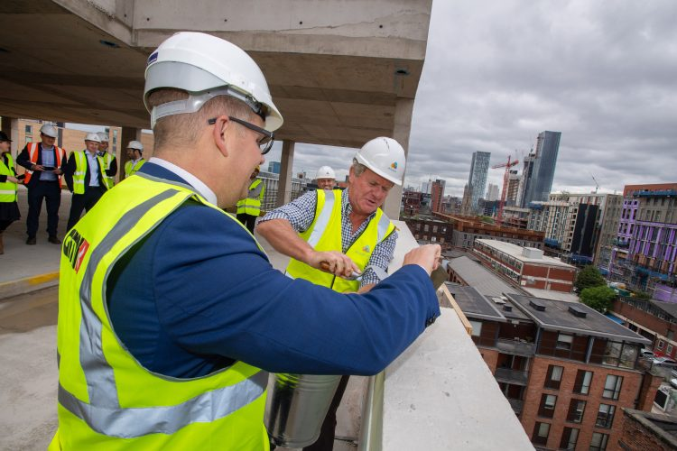Topping out for Mulbury's Excelsior Castlefield scheme