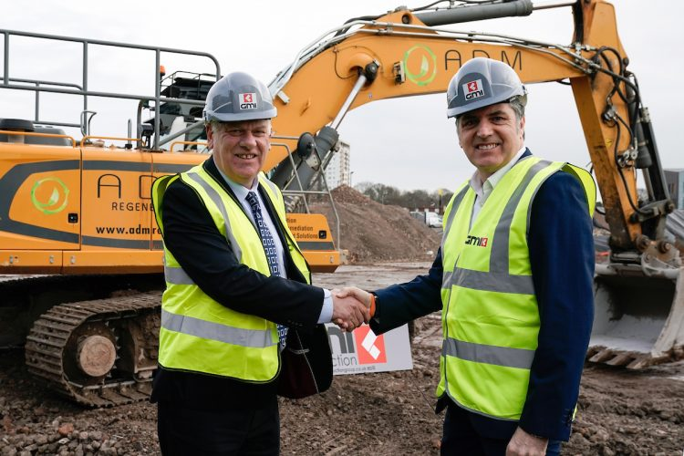Ground Breaks On Retail Development In Kirkby