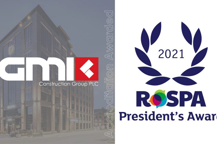 GMI CONSTRUCTION GROUP PLC RECEIVES ROSPA PRESIDENT'S (11 CONSECUTIVE GOLDS) AWARD FOR HEALTH AND SAFETY ACHIEVEMENTS